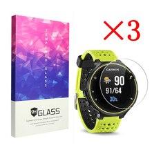 Ultra-thin 9 h dureza vidrio templado de alta definición resistente a los arañazos protector de pantalla para garmin forerunner 235 gps (3 pack)