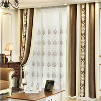 Jacquard Curtain Cashmere Luxury Curtain for Living Room Bedroom Thick High Blackout Curtain Ready Made Free Shipping