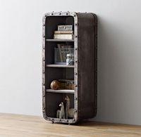 Лофт Промышленные железный шкафчик 4 Слои книжный шкаф жизни комнатный шкаф для хранения Спальня открытым шкафа/тумбочки/ведро кабинет