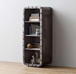 Лофт Промышленные железный шкафчик 4-Слои книжный шкаф жизни комнатный шкаф для хранения Спальня открытым шкафа/тумбочки/ведро кабинет