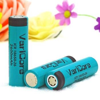 20PCS VariCore ICR18650-26 Original  18650 2600mAh Li-ion battery,18650 Rechargeable Battery