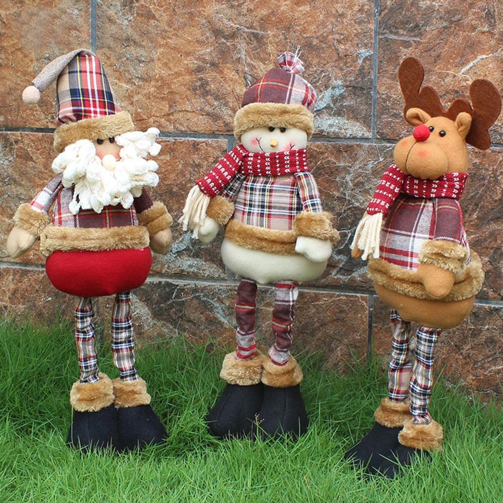 Regalo de navidad Santa Claus muñeco de nieve Reindeer muñeca navidad árbol colgante ornamentos colgante regalo decoraciones de navidad para el hogar