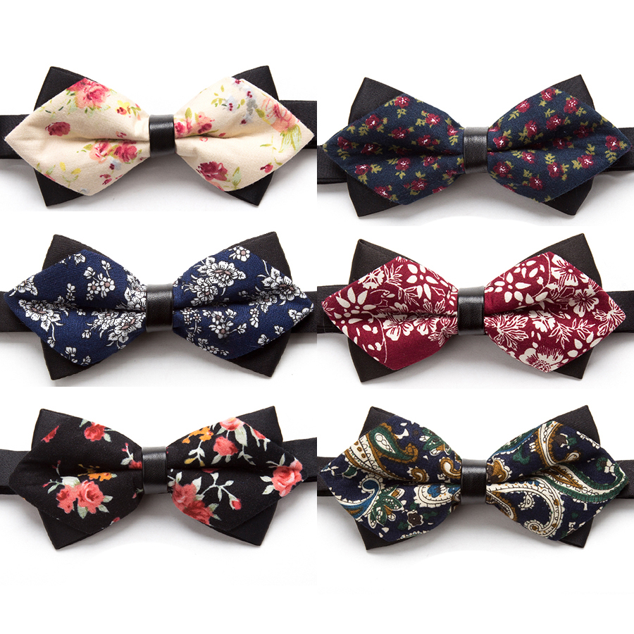 New Bowtie Flower Fashion Bow Ties For Men Necktie Adjustable Butterfly Neckwear Luxurious Gift Tie Dress Shirt Mens Bowtie