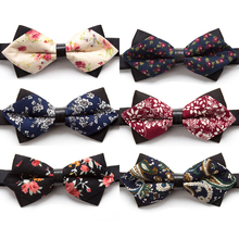 New Bowtie Flower Fashion Bow Ties for Men Necktie Adjustable Butterfly Neckwear Luxurious Gift Tie Dress Shirt Mens