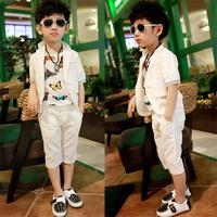 High quality 2018 Summer 2 New 3 Boys 4 Suit 5 Foreign 6 Sets 7 Children's wear 9 years old Child dress T shirt Three piece
