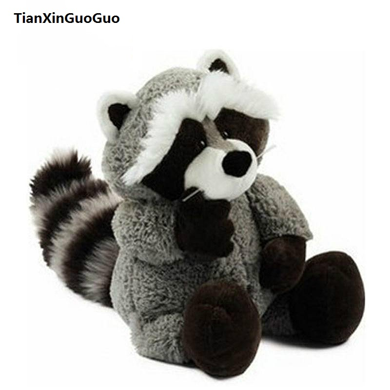 large 75cm cute raccoon soft doll gray raccoon plush toy throw pillow birthday gift w2002 cute cartoon ladybird plush toy doll soft throw pillow toy birthday gift h2813