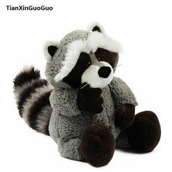 large 75cm cute raccoon soft doll gray raccoon plush toy throw pillow birthday gift w2002