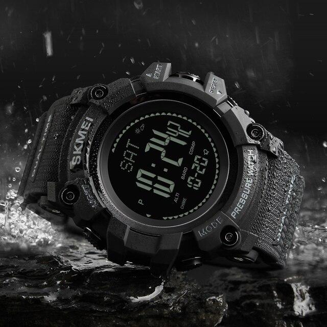 SKMEI Mens Sport Watch Fashion Men's Digital Watch Altimeter Barometer Compass Temperature Weather Electronic Luxury Men Watches 4