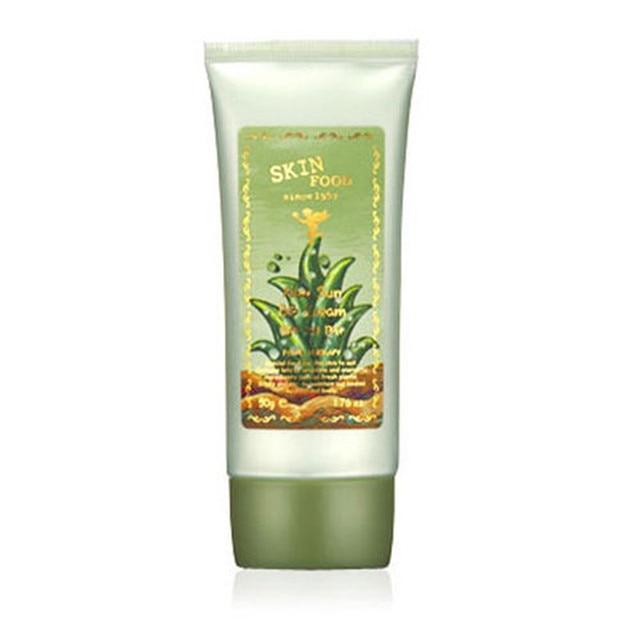 SKINFOOD Aloe Sun BB Cream SPF20 PA+ 50mL #1 Radiant Skin Cover Concealer Foundation Moisturizer  Brightening Clear BB Cream