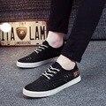 2016 Новой Англии мужская Повседневная Denim Холст Обувь Ленивый Моды Дышащей Обуви Мужчины Спортивная