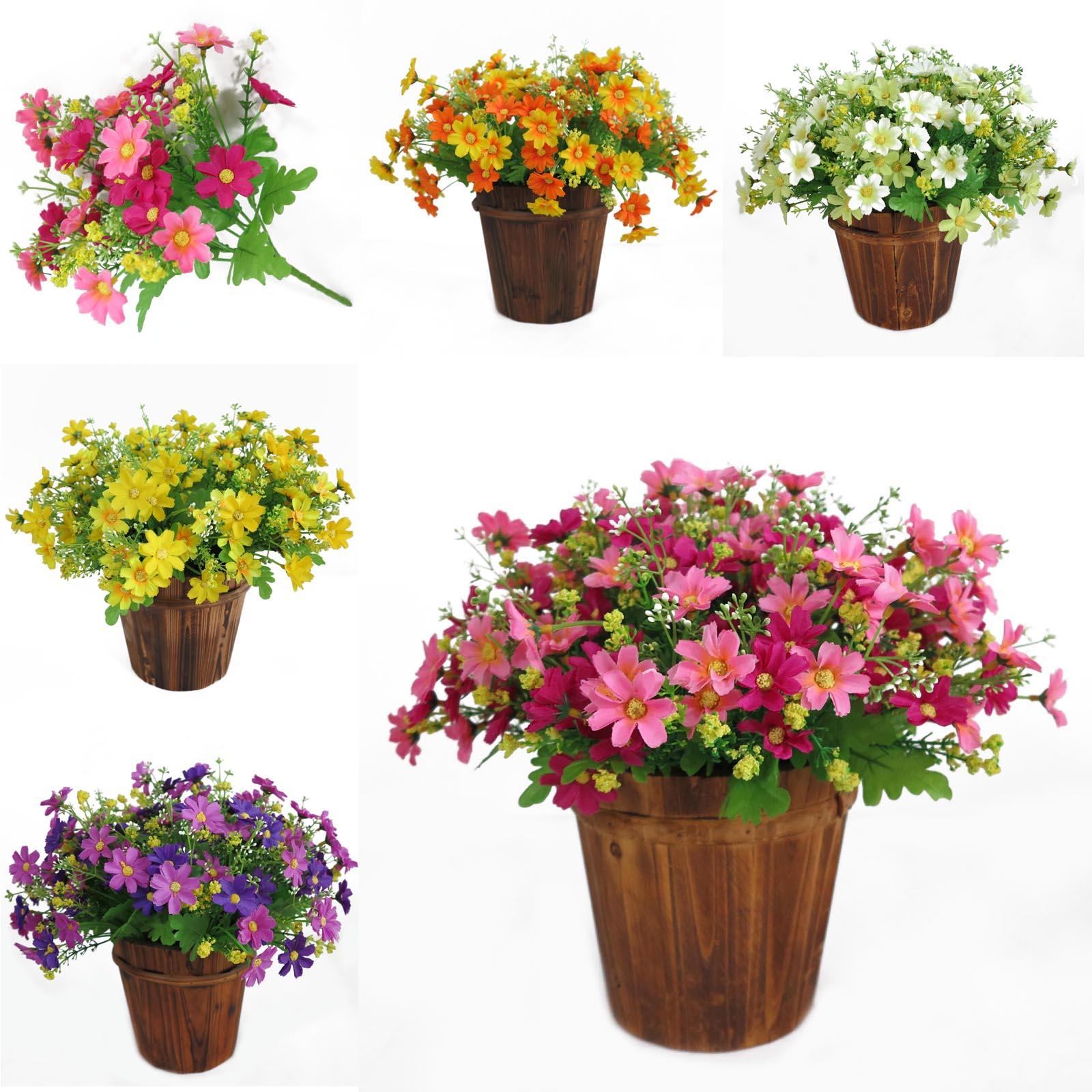 Artificial Fake Daisy Flower Bouquet Silk Flower Bridal Bouquet For