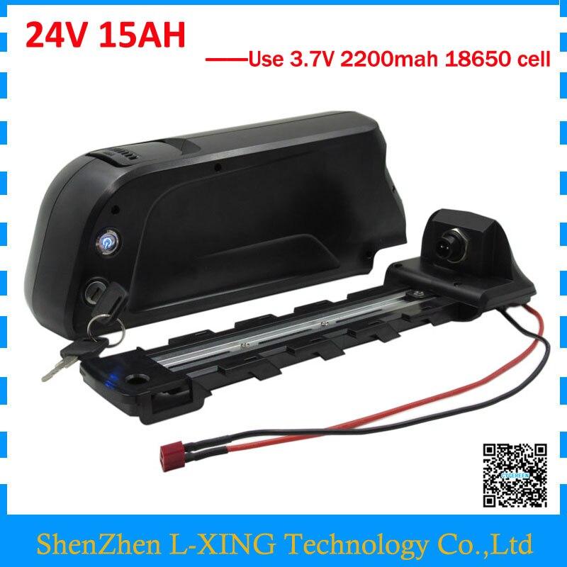 Free customs fee <font><b>24V</b></font> <font><b>15AH</b></font> <font><b>battery</b></font> 350W <font><b>24V</b></font> <font><b>15AH</b></font> lithium <font><b>battery</b></font> bottle case use 18650 2200mah cell with USB Port 2A Charger