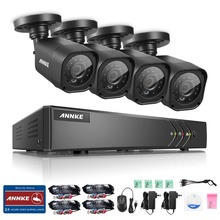 ANNKE 4CH 720P HD CCTV System 1080N DVR with 720P IR Outdoor Surveillance Camera 4 channels Home Security System Email Alert