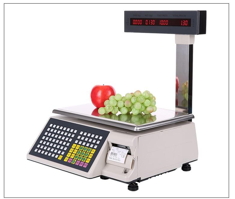 2018 новый штрих масштаба печати этикеток весы электронные Розничная Цена вычислений весы TM A торговые весы
