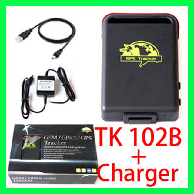 Vehicle Gps Tracker Tk102b Hard Wired Charger Car Gsm Gps