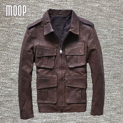 Brown genuine leather jacket coats men cowskin motorcycle jackets chaqueta moto hombre veste cuir homme cappotto.jpg 250x250