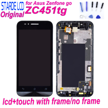 Starde LCD for Asus Zenfone Go ZC451TG LCD Display Touch Screen Digitizer Assembly with Frame ZC451TG Screen Replacement все цены
