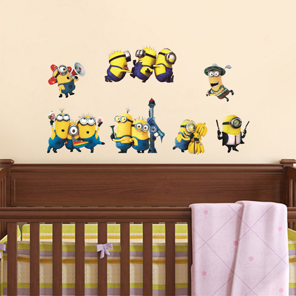 Minion Wall Decor online shop minion wall stickers switch sticker 30*60cm removable
