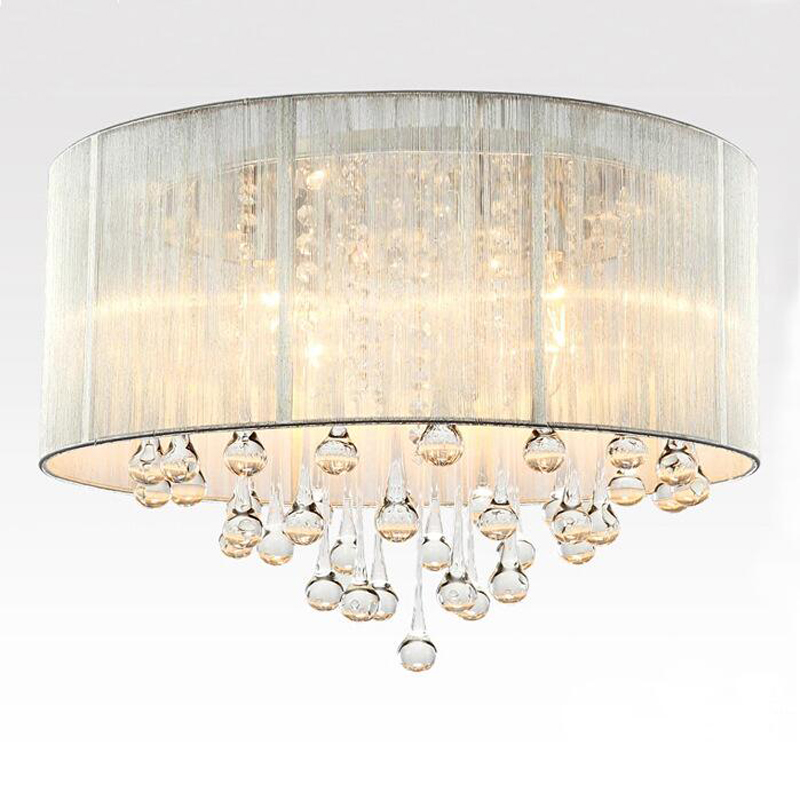 Modern fabric fashion romantic bedroom lights living room lamp ceiling chandeliers wedding drawing crystal lamps led lighting modern crystal chandelier hanging lighting birdcage chandeliers light for living room bedroom dining room restaurant decoration