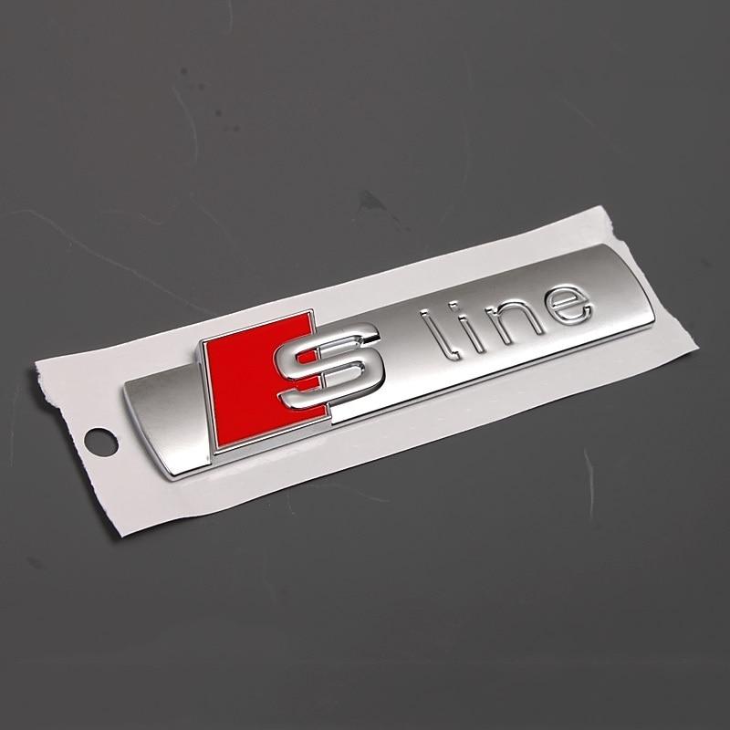 Car Side Door Sline S Line Fender Emblem Decal Sticker For