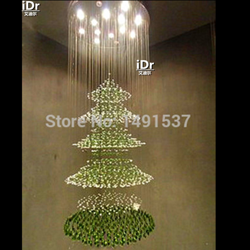 Christmas tree light compound chandelier crystal restaurant ...