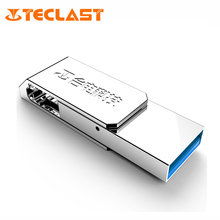 Teclast NYO S3 16GB/32GB/64GB 2 in 1 Micro USB & USB 3.0 ports Flash Drive for Smartphones Disk Memory Storage Silver