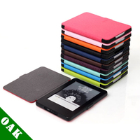 Free DHL Ultra Slim PU Leather Protective Case For Amazon Kindle Voyage With Turn On