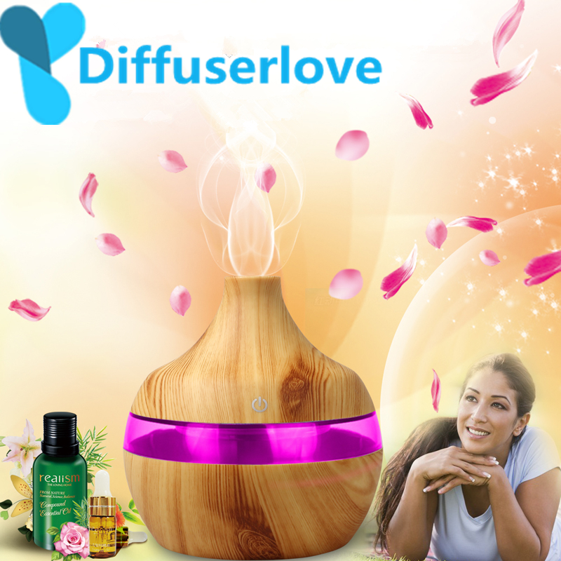 USB LED Aroma Ultrasonic Humidifier Aroma Aromatherapy Essential Oil Diffuser RF