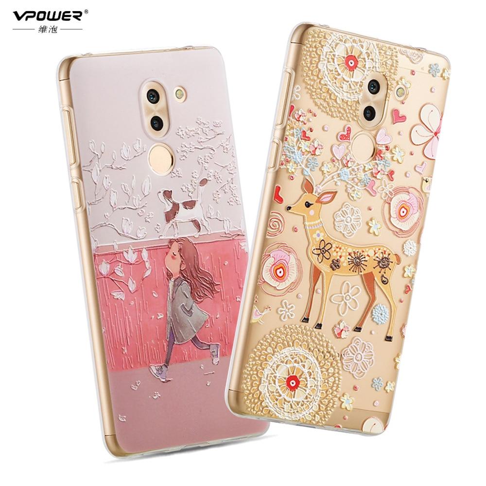 Vpower 3D Relief Soft Case Bak Skal För Huawei Honor 6x Case Cartoon - Reservdelar och tillbehör för mobiltelefoner