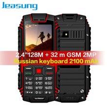 Jeasung ioutdoor T1 2 г Особенности телефон IP68 ударопрочный мобильный телефон telefonu 2,4 »128M + 32 м GSM 2MP русская клавиатура 2100 мАч