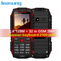Jeasung ioutdoor T1 2G Feature Phone IP68 Shockproof mobile phone telefonu 2.4''128M+32M GSM 2MP Russian Keyboard 2100mAh