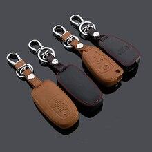 Новый Автомобиль Стайлинг Key Чехол Для Audi A1 A5 Q5 Q3 A4 A3 A6 A7 A8 R8 Кожа С Пряжкой Высокого качества Бесплатно доставка
