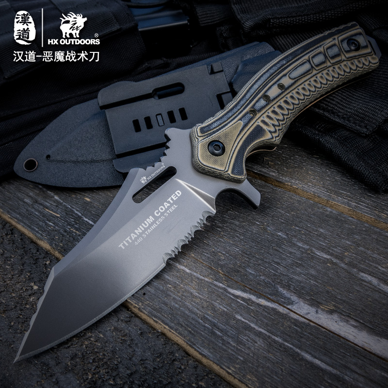 HX Outdoors Tactical Knife Fixed Blade Hunting Knife Outdoor Camping Survival Rescue Knives Warfare EDC Tool Pocket Tools стоимость