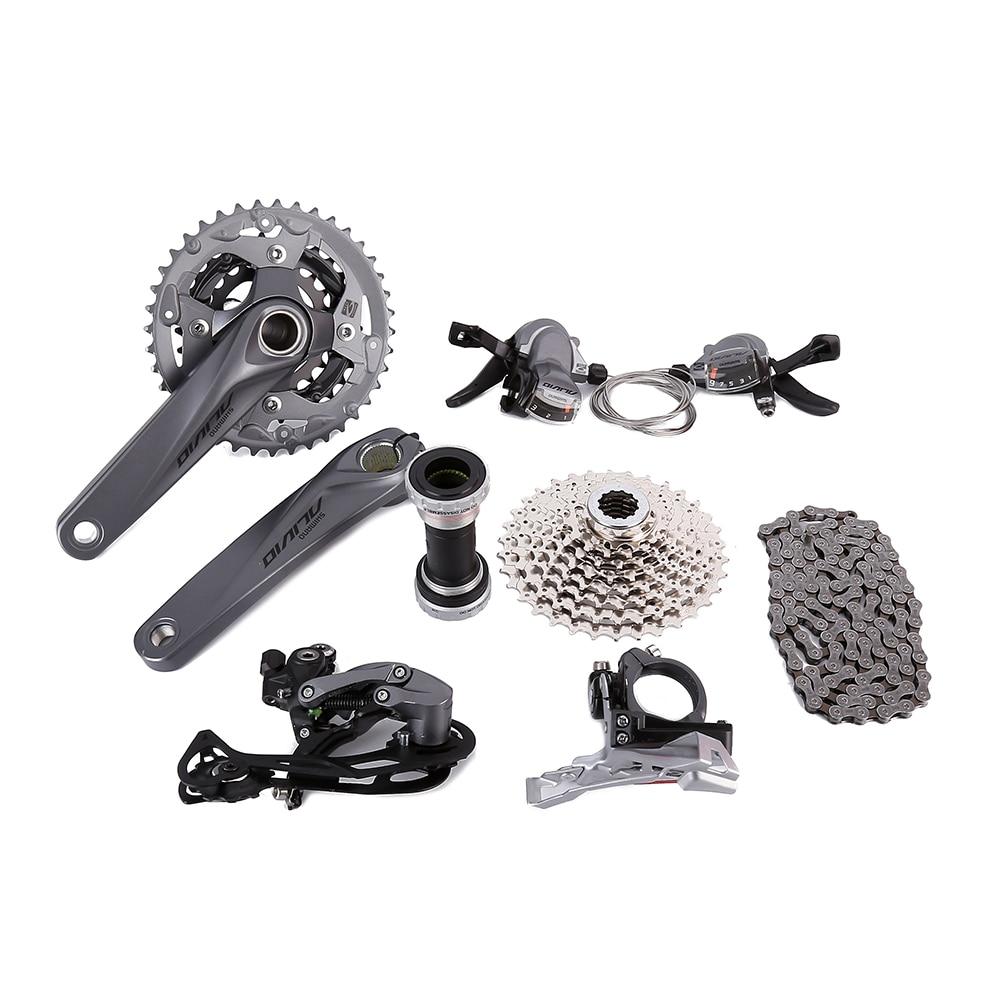 shimano Groupset Alivio M4050 bike bicycle Cycling 9-speed 170mm запчасть shimano alivio m4050 efcm4050cx002x