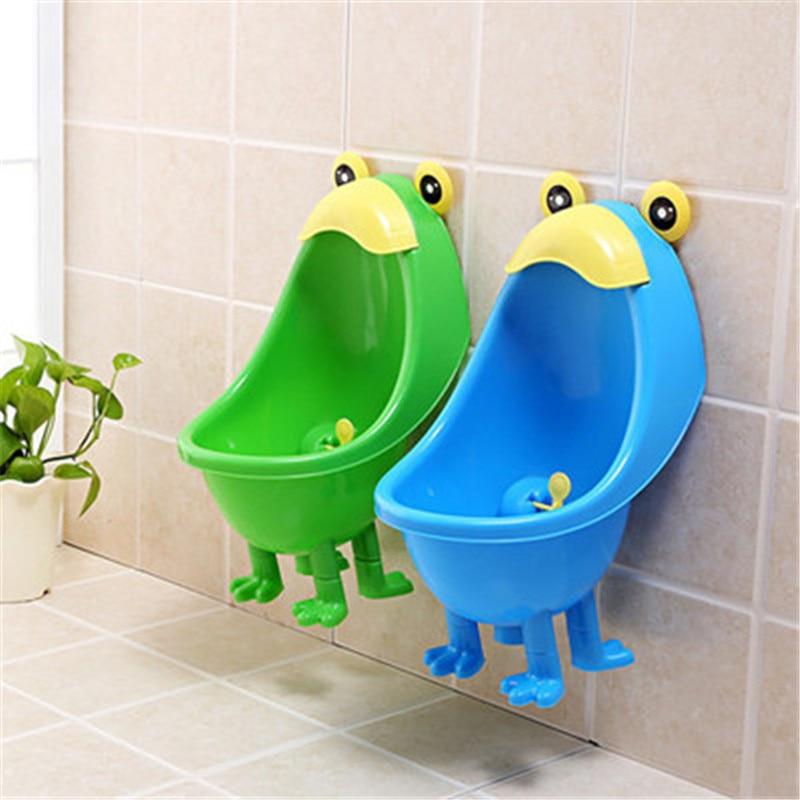Potty Training del bambino Dei Ragazzi In Piedi Potty Toilet Trainer Rana A Parete Orinatoi Wc Per Bambini Basamento Verticale Orinatoio Pee Potty