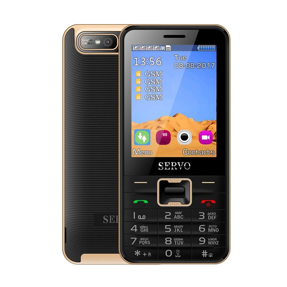 Quad Sim Cell phone SERVO V8100 2 8 inch Bluetooth Flashlight Quad band GSM 4 SIM