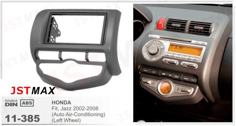 JSTMAX Car DVD CD Radio Player Fascia Face Panel HONDA Fit, Jazz Left Wheel Stereo Facia Trim Dash Installation Kit
