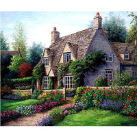 DIY Diamond Painting Landscape Garden Cottage New 5D Cross Stitch Pattern Resin Diamond Embroidery Mosaic Full