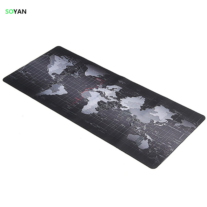 Alfombrilla de ratón de gran tamaño World Map Speed ​​Game Alfombrilla de ratón Alfombrilla para computadora portátil Gaming Mousepad Alfombrilla de escritorio Teclado para Dota CS 90x40 80x30cm