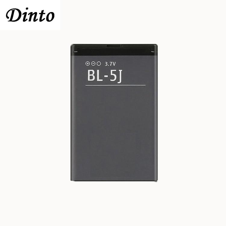 Dinto 1pc 1320mAh BL 5J BL5J BL 5J Phone Battery for Nokia 5230 5233 5800 3020 XpressMusic N900 C3 Lumia 520 525 530 5900|Mobile Phone Batteries| |  - title=