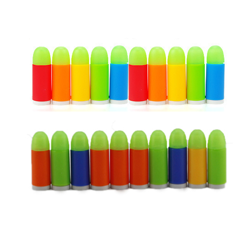 100pcs/lot Mini Luminous Soft Bullets Mini Colorful Soft Bullet Pistol Toy Gun For Pistol Gun Orbeez Toys Boys Birthday Gifts