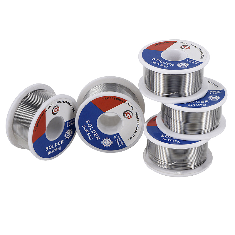 JCD Soldering Wire 50g 0.6/0.8/1.0/1.2/1.5 MM 60/40 FLUX 2.0% 45FT Tin Lead Tin Wire Melt Rosin Core Solder Soldering Wire Roll
