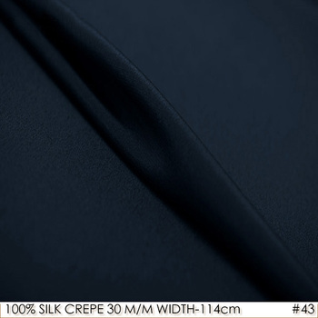 Tela DE seda 114cm DE ancho 30momme100% seda Natural, vestido DE novia DE seda pesada, tela DE seda satinada, textil azul oscuro NO43