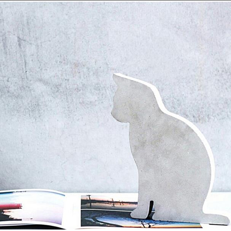 Concrete adorable meow Bookends Paperweight cat study the living room coffee shop creative ornaments silicone mold