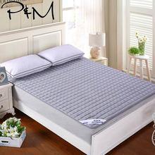 Cubierta de colchón acolchado sólido relleno de poliéster de punto doble cama individual doble tamaño king Topper almohadilla de protección