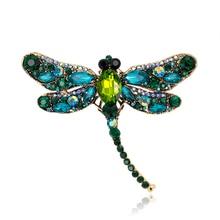 Броши Ювелирные Изделия Rhinestone Dragonfly Брошь Pin Декоративные Аксессуары Для Одежды Брошь Животных Relogio Feminino