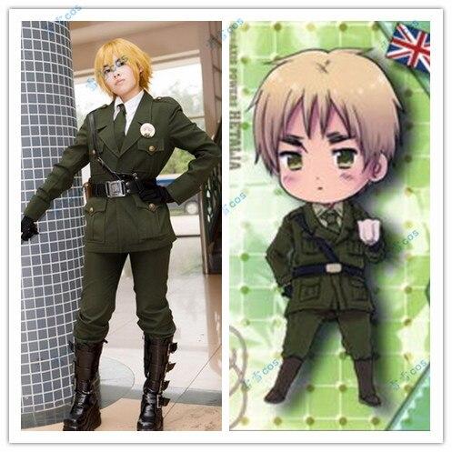 c6754e64169da5 Costumize APH Axis Powers Hetalia anglia artur Kirkland Cosplay Costume top  + spodnie + krawat