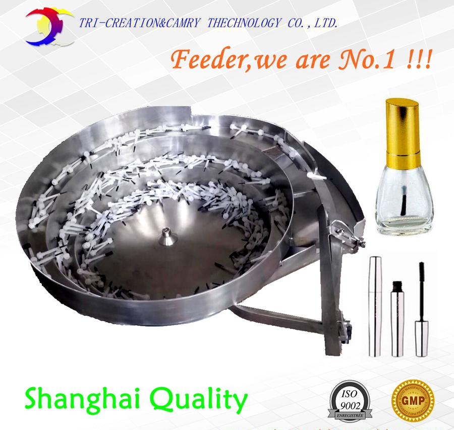cosmetic brush bowl feeder/sorter,SUS304 automatic cosmetic tool vibrate bowl feeder,400mm customizable brand new smt yamaha feeder ft 8 2mm feeder used in pick and place machine