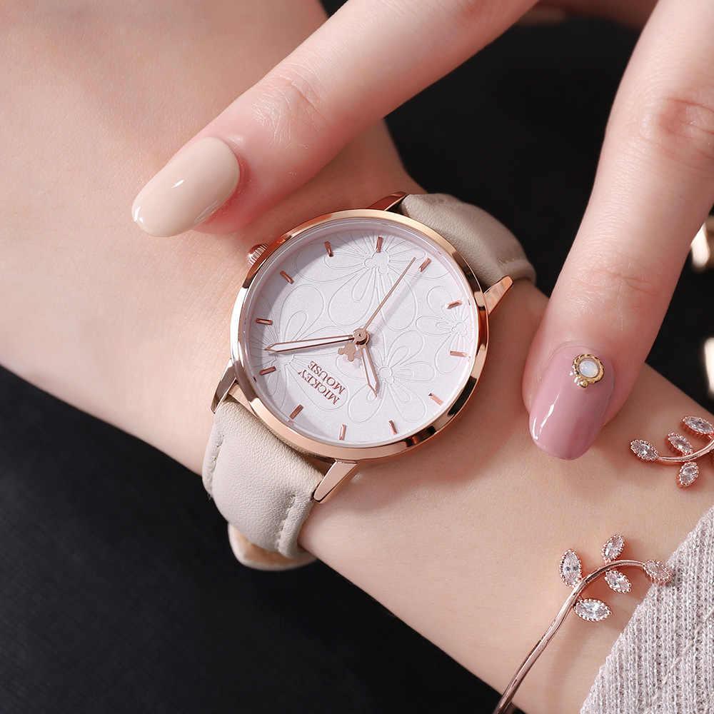 מיקי תלמיד שעונים עמיד למים קוורץ שעונים עבור בית ספר בנות שעונים פשוט אופנה שעון 269