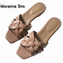 Moraima Snc brand sandals women  newest summer flats shoes yellow red slippers for girls Outdoor beach san